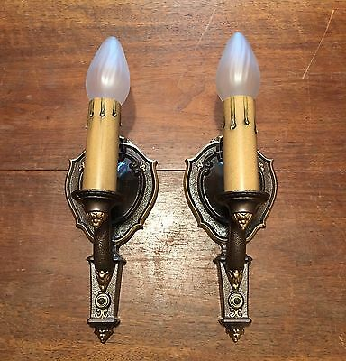 Wired Antique Wall Sconce Fixtures Lights Lighting Hallway House Home 1D