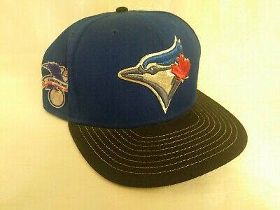 info for 8c04a 76e32 New Era Toronto Blue Jays 59Fifty MLB Fitted 7 3 8 Cap American League Patch