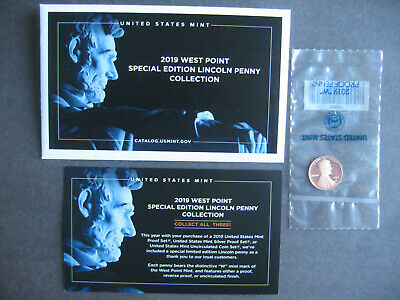 2019-W Proof Lincoln Cent Penny from West Point Mint Complete with Envelope/COA