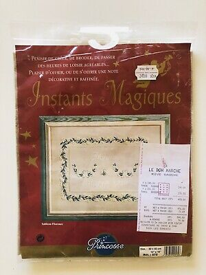 Princesse French Embroidery Kit Tableau Florence Newborn New Baby Birth Floral