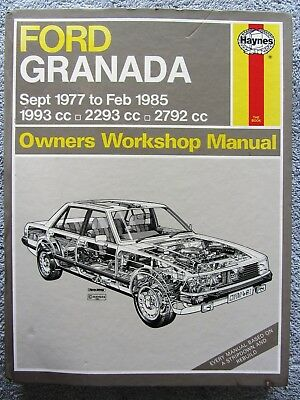 0481 Haynes Ford Granada Petrol up to B Workshop Manual Sept 1977 - Feb 1985