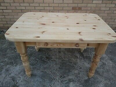 Rustic Victorian Pine Farmhouse Country Kitchen Table. Very sturdy and Heavy