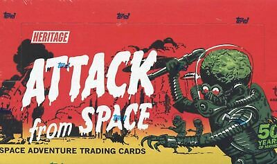 Mars Attacks Topps Heritage Attack From Space Card Box