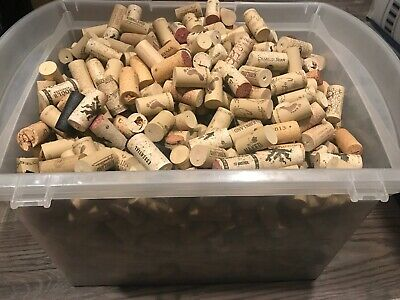 Used Wine Cork Lot (1100) Wine Corks Various Brands Crafts Rustic Decor