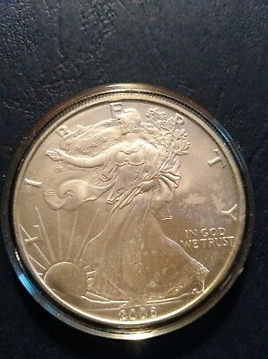 2006 American Silver Eagle 1 Troy OZ. .999 Pure Fine one dDollar Coin B