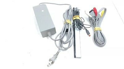 Nintendo Wii Console Model RVL-001 replacement sensor, Power and AV cable ONLY