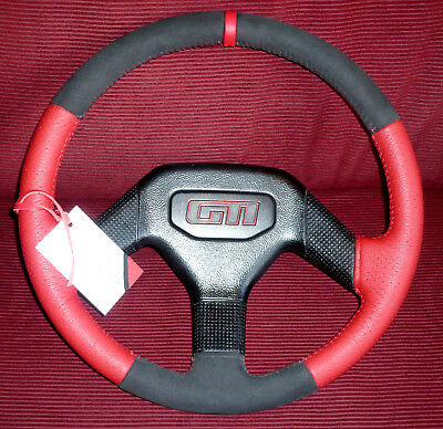 Complete Restored Steering Wheel For A Peugeot 205 Gti Phase 2