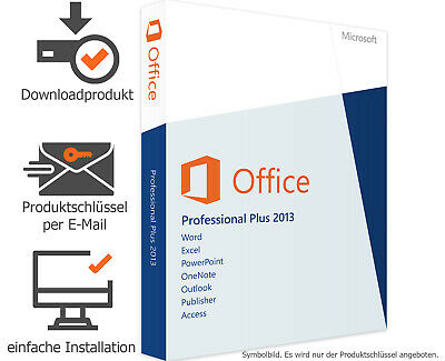 Microsoft Office 2013 Professional Plus - Vollversion - Word✔ Excel✔ Powerpoint✔