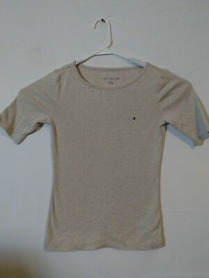 Lot of Two Tommy Hilfiger Women's Size XS Blue and Tan Tops