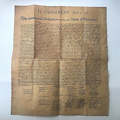 "Declaration of Independence Replica - Looks and Feels Old! - 13.5"" x16"""