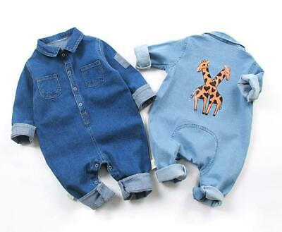 1pc baby boys denim bodysuit birthday gift bodysuit sets party denim jumpers