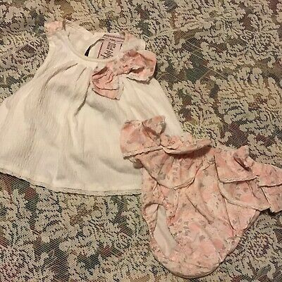 ad199669324c CATHERINE MALANDRINO BABY girl s pink s s dress + briefs 3-6 months ...