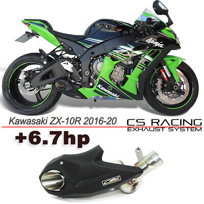 2016-2019 Kawasaki Ninja ZX10R ZX10RR Slip-On Escape Racing Silenciador Cs