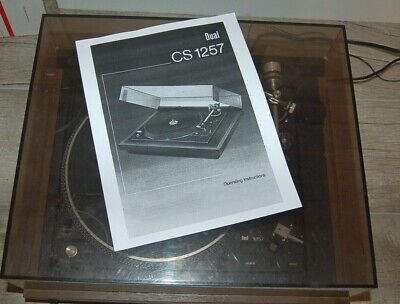 Dual Electronics CS 1257 Turntable Direct Drive Record Player Works