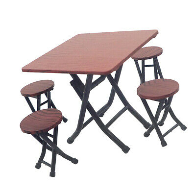 1:12 Dolls House Miniature Kitchen Furniture Plastic Dining Table Chairs Set