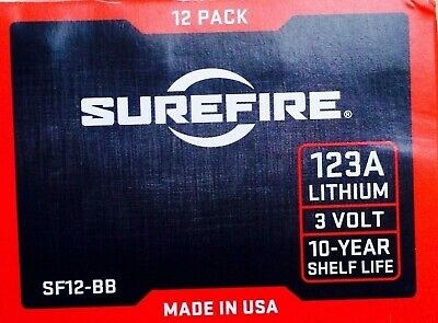 SureFire SF12-BB Box of 12 Pack CR123A Lithium Batter CR123 CR-123A CR123A