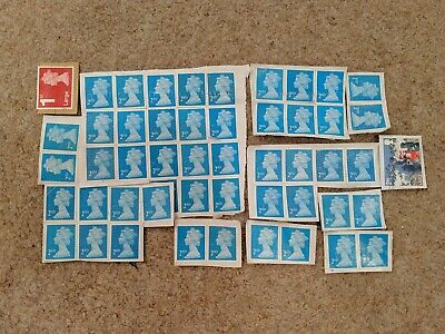 48 x 2nd Class Royal Mail Stamps; Unfranked, No Gum, on Paper Face value £31.17