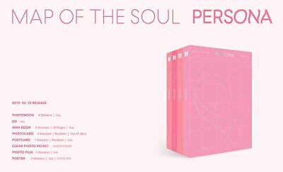 BTS BANGTAN BOYS MAP OF THE SOUL PERSONA ALL Ver. 4 CD + 4 FOLDED POSTER NEW