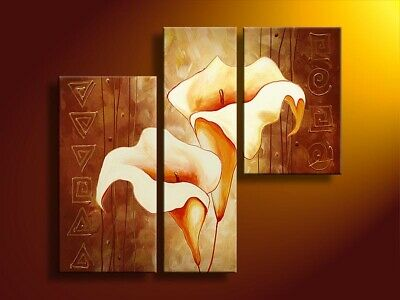 Large Contemporary Abstract Flower Oil Painting on Canvas Wall Art Framed aps145