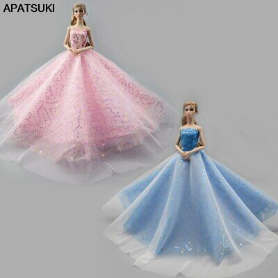 "Fashion Wedding Dress For 11.5"" Doll Clothes Outfits Gown 1/6 Doll Accessories"