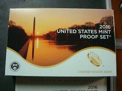 2016-S New Proof Set From Mint Shipping Box Record Lowest Mintage Set Pres/quart