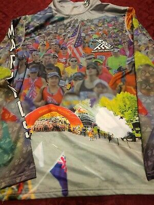 Official 2018 Marine Corps Marathon Shirt Men's MEDIUM MCM 26.2