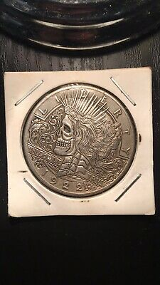 1922 E.Pluribus Unum Peace Liberty Skull Skeleton One Dollar U.S Silver Coin