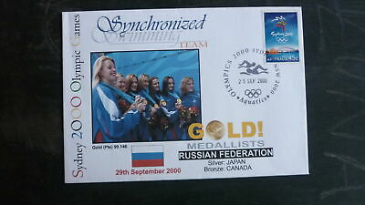 Russia Sydney 2000 Olympic Synchron Swimming Team Gold Medal Win Cover