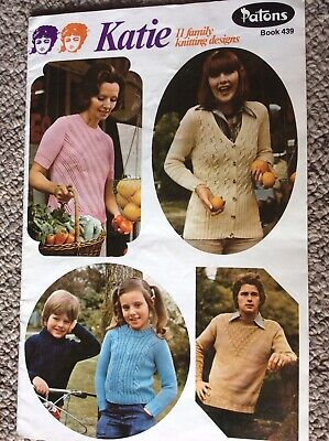 Vintage Patons Knitting Pattern Book 439 Katie Eleven Family Designs
