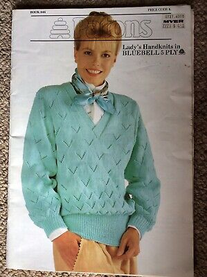 Vintage Patons Knitting Pattern Book 846 Lady's Designs in Bluebell 5 Ply