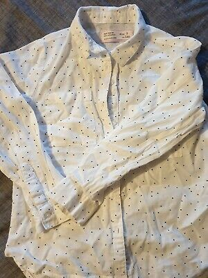 zara girls white long sleeved shirt aged 7 years excellent condition