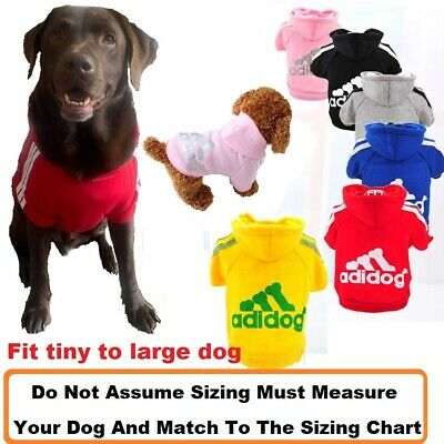 Pet cat Dog Hoodie warm winter Jumper Clothing XS-9XL 13 Sizes