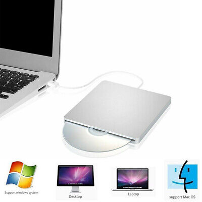 Laptop PC Slim External DVD Slot USB RW CD Writer Drive Burner Reader Player