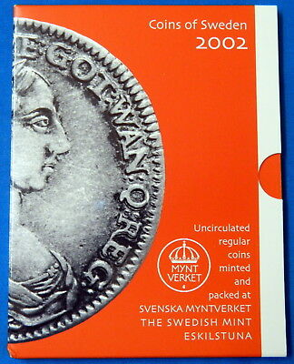 2002 Coins of Sweden Swedish UNC Set