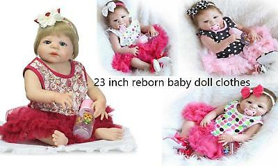 "Reborn Girl Doll Clothing Dress For 23"" Baby Girl Doll Outfit Clothes Xmas gifts"