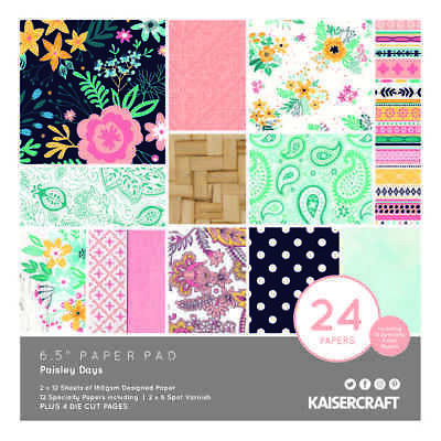 NEW Kaisercraft Paisley Days Paper Pad By Spotlight
