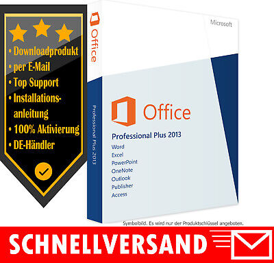 Microsoft Office 2013 Professional Plus - Vollversion - Word✔ Excel✔ Powerpoint
