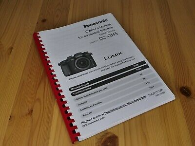 Manuale COMPLETO Panasonic Lumix DMC-GH5 Stampato in INGLESE