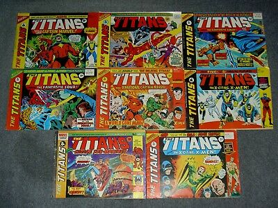 Vintage,marvel,the Titans Comic Lot,captain America,avengers,x-Men,comics.p41