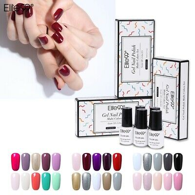 Elite99 Gel Nail Polish UV LED Soak Off  5 Colors Set Manicure Gift Starter Kits