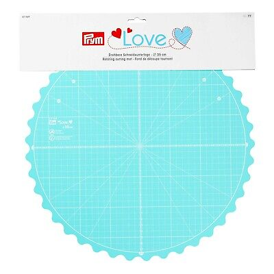 PRYM LOVE Rotating Cutting mat 35CM ideal for patchwork crafting quilting 611469