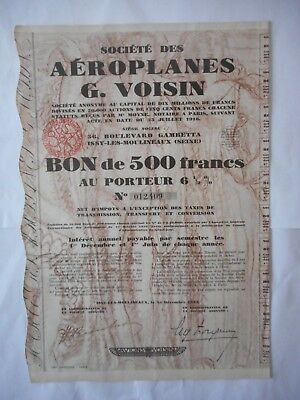 Aeroplanes G VOISIN     Issy les Moulineaux