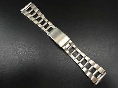 Correa/Bracelet Reloj Tipo Zenith Racing Perforated 22Mm Acero New Old Stock 70S