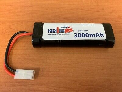 Rechargeable Battery Pack RC Batteries NiMh High Cap 3000mAh 7.2V + Tamiya Cable