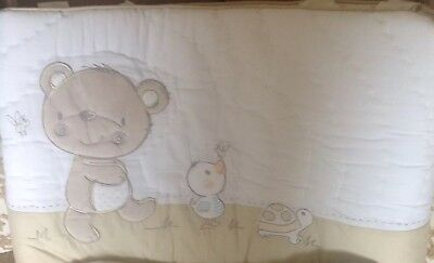 Mothercare Bear And Friends Bumper For A Cot Or Cot Bed ** Brand New **