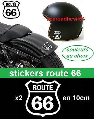 2 stickers sticker route 66 harley davidson,indian auto,moto-couleur o choix