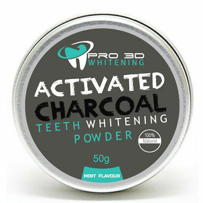 X2 Natural Teeth Whitening & Stain Remover Organic Activated Charcoal Powder New
