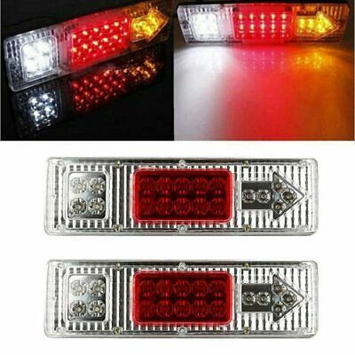 1 pair 19 LED Tail Stop Truck Trailer Combination Lamp Submersible Light 12V M2