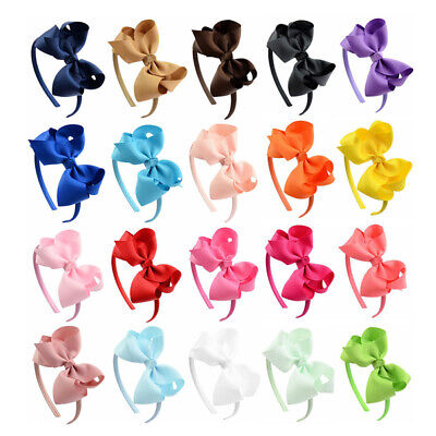 Girls Kids Hair Hoop Band Headbands Cute Sweet Bow Accessories Headwear Fashion