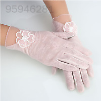 CD15 Lace Touch Screen Glove Outdoor Women Beautiful Touch Texting Gloves